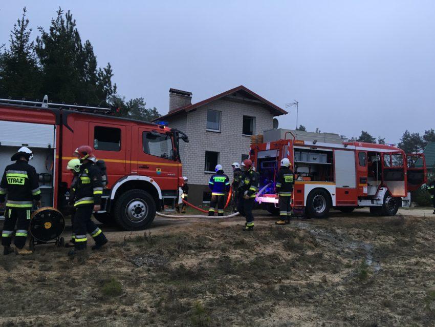 Pożar piwnicy w budynku mieszkalnym