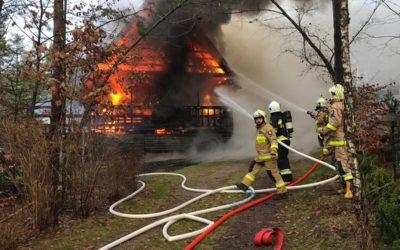 Pożar domku letniskowego w Suleckim Borku