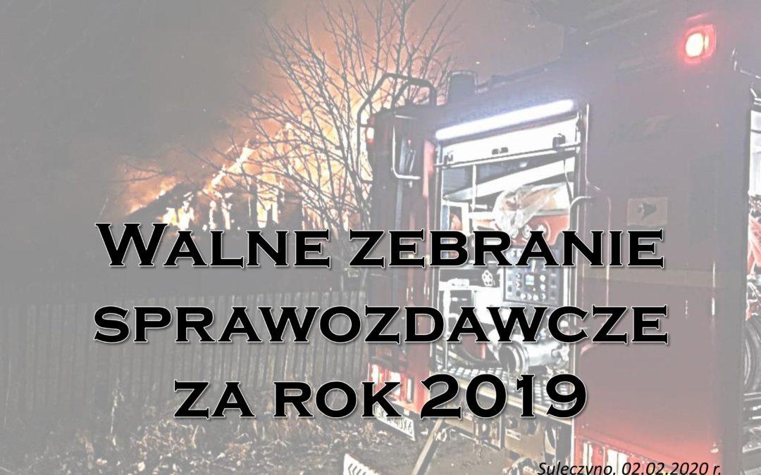 Walne Zebranie Sprawozdawcze za rok 2019
