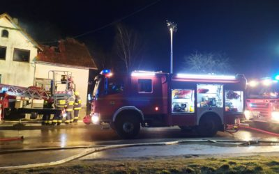 Pożar budynku mieszkalnego w miejscowości Widna Góra