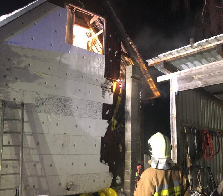Pożar domku letniskowego m. Kistowo