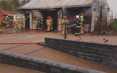 Pożar garażu m. Kistówko