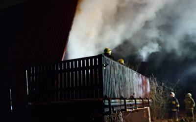 Pożar domku letniskowego m. Widna Góra