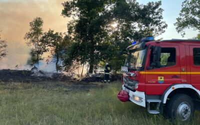 Pożar lasu na terenie gminy Sulęczyno